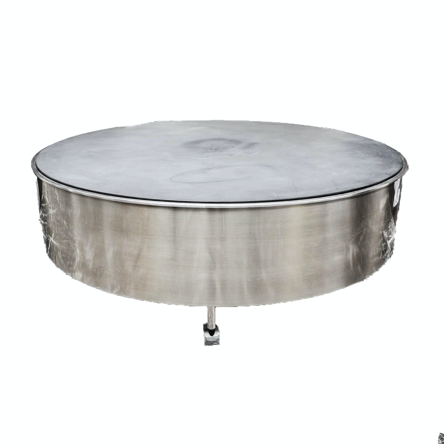 Circular Metal Table on Casters