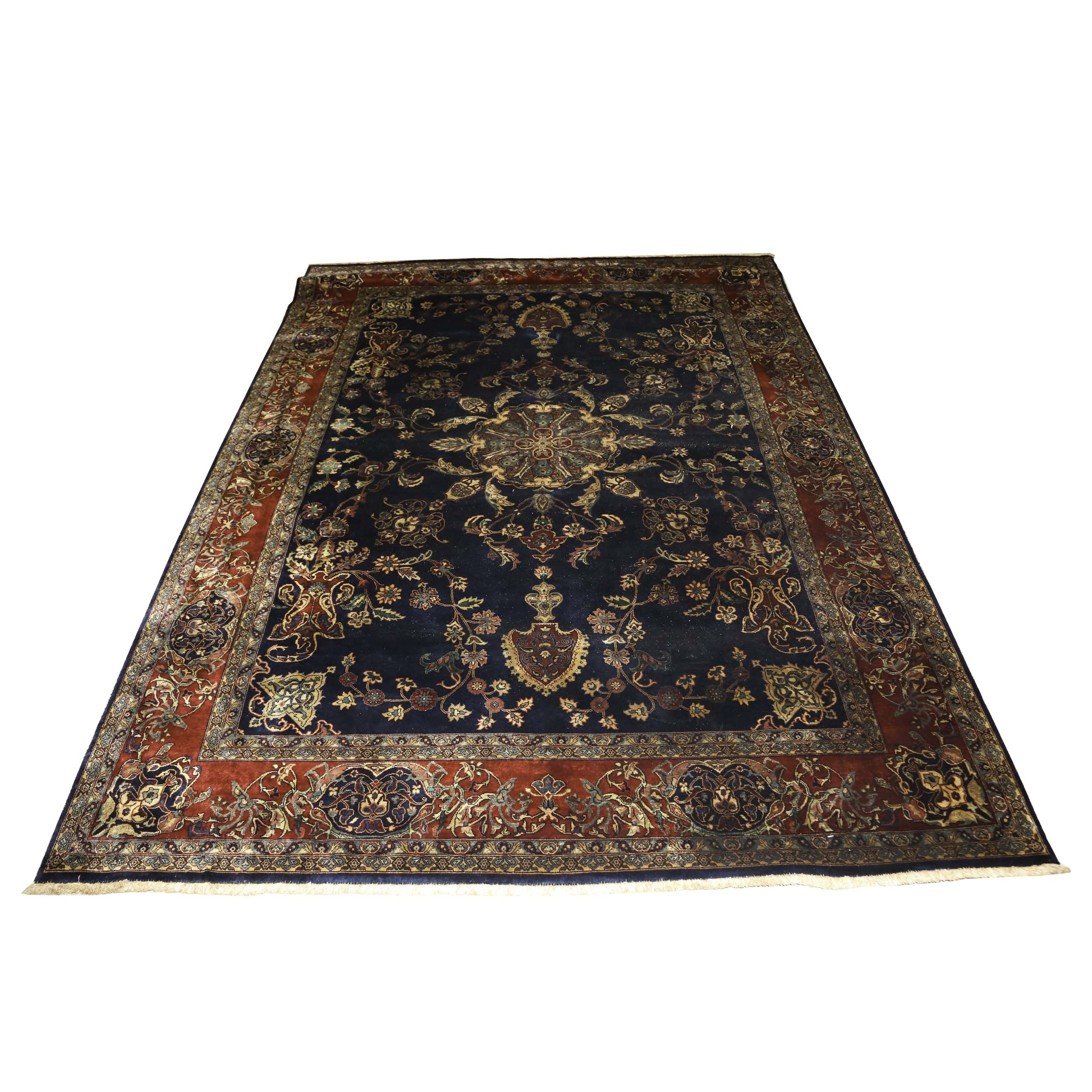 Hand-Woven Persian Wool Area Rug