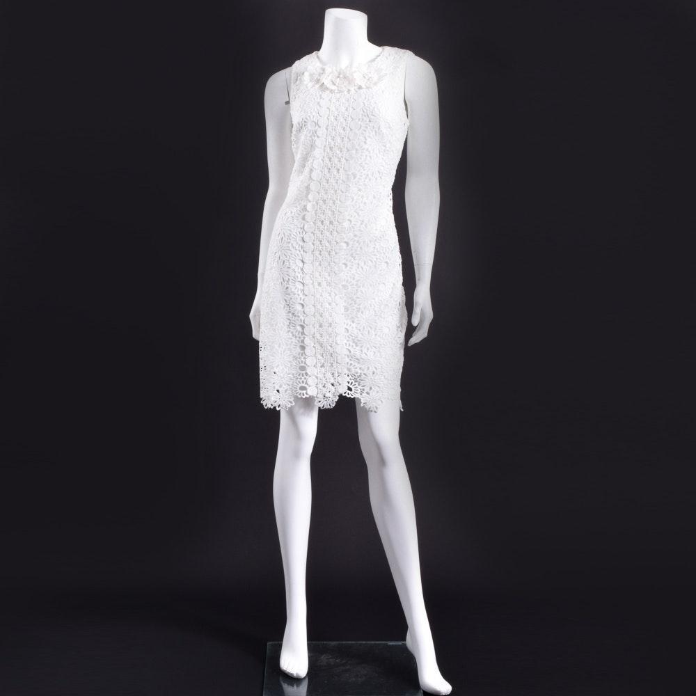 Taylor White Lace Dress