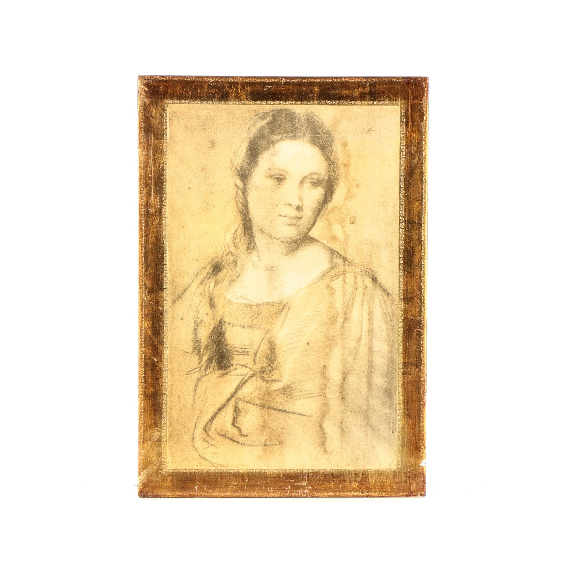 "Giclee on Paper After Titian ""Portrait of a Young Woman"""
