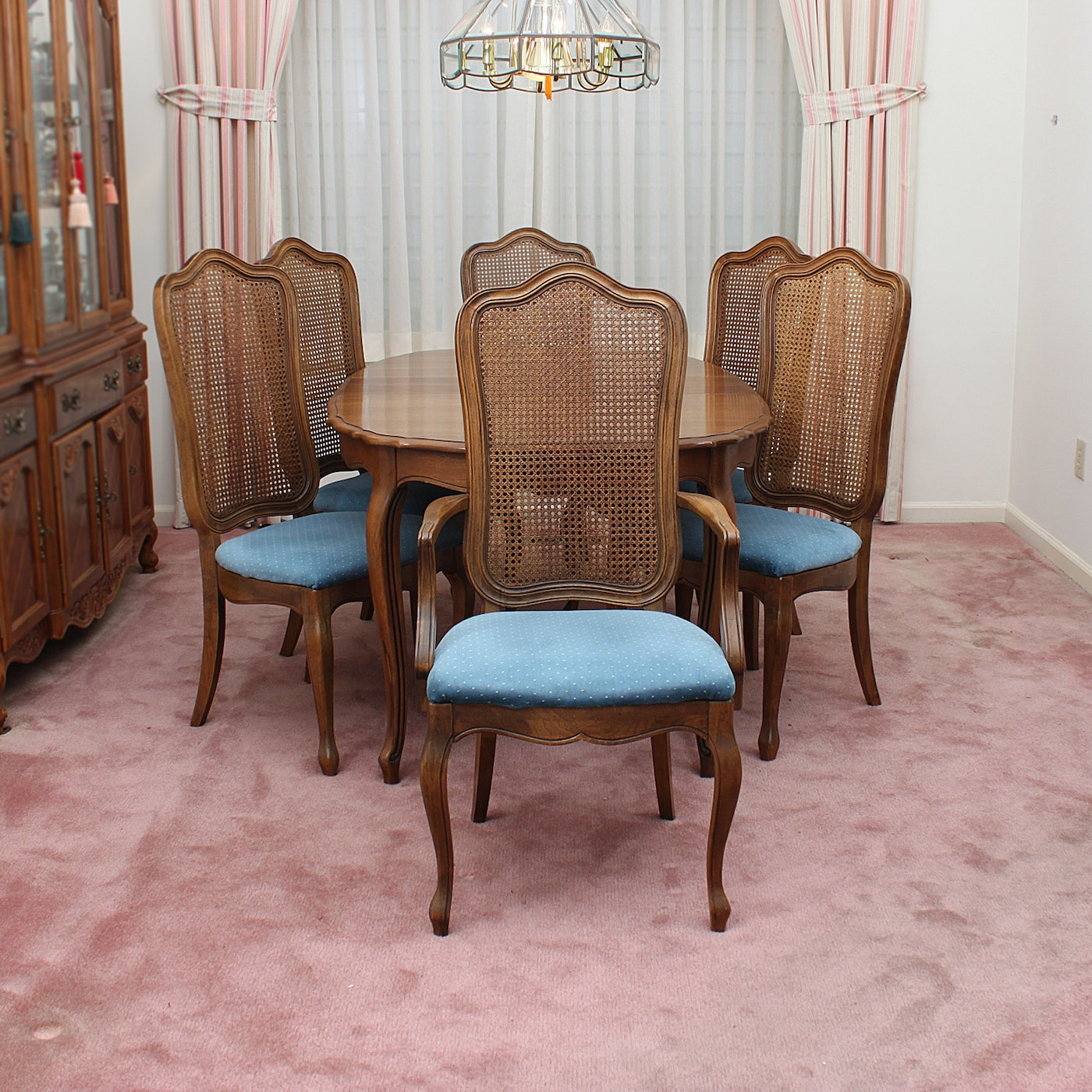 Vintage French Provincial Style Dining Set By Thomasville