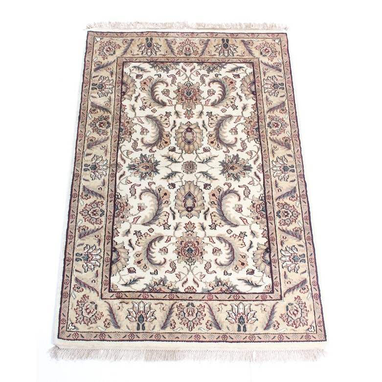 Fine Hand Knotted Indo-Persian Tabriz Area Rug