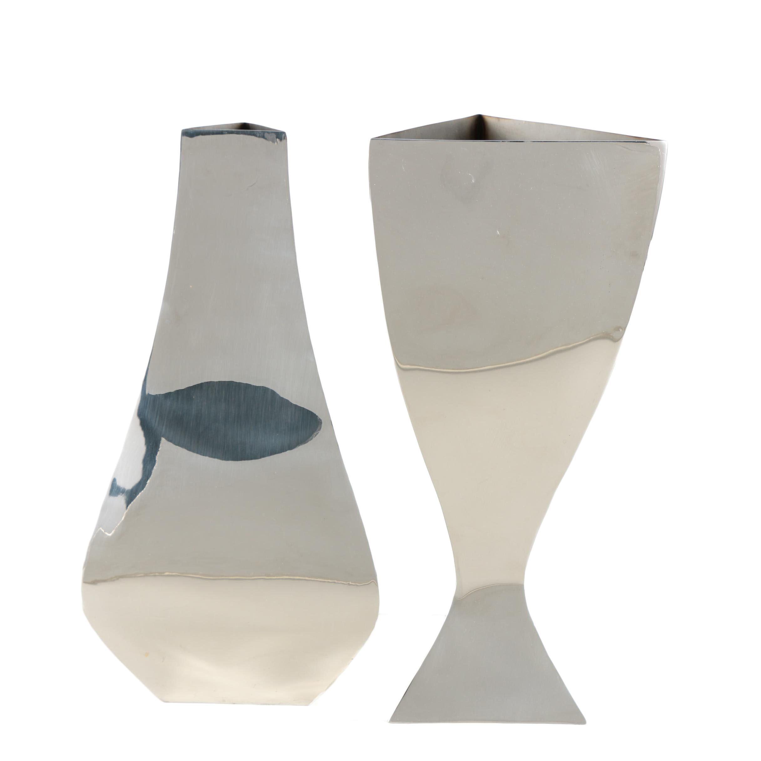 Michael Aram Mirrored Metal Vases