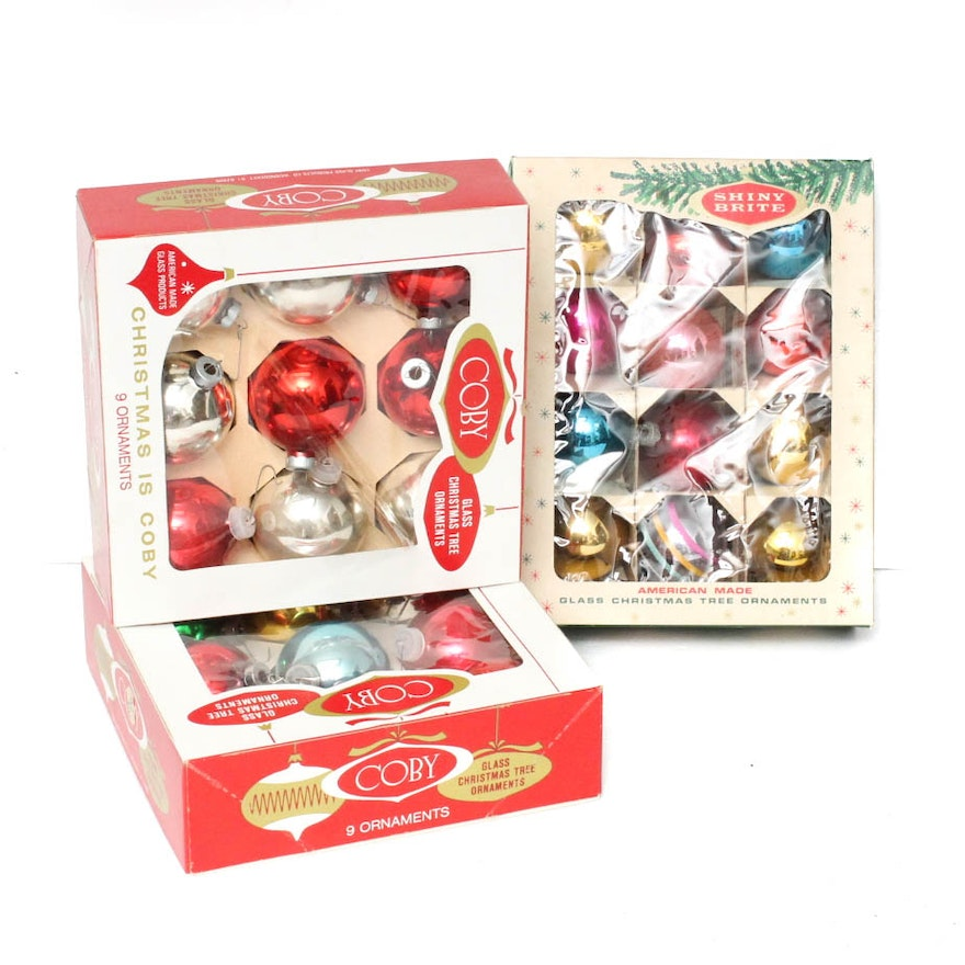 vintage shiny brite ornament collection - Vintage Shiny Brite Christmas Ornaments