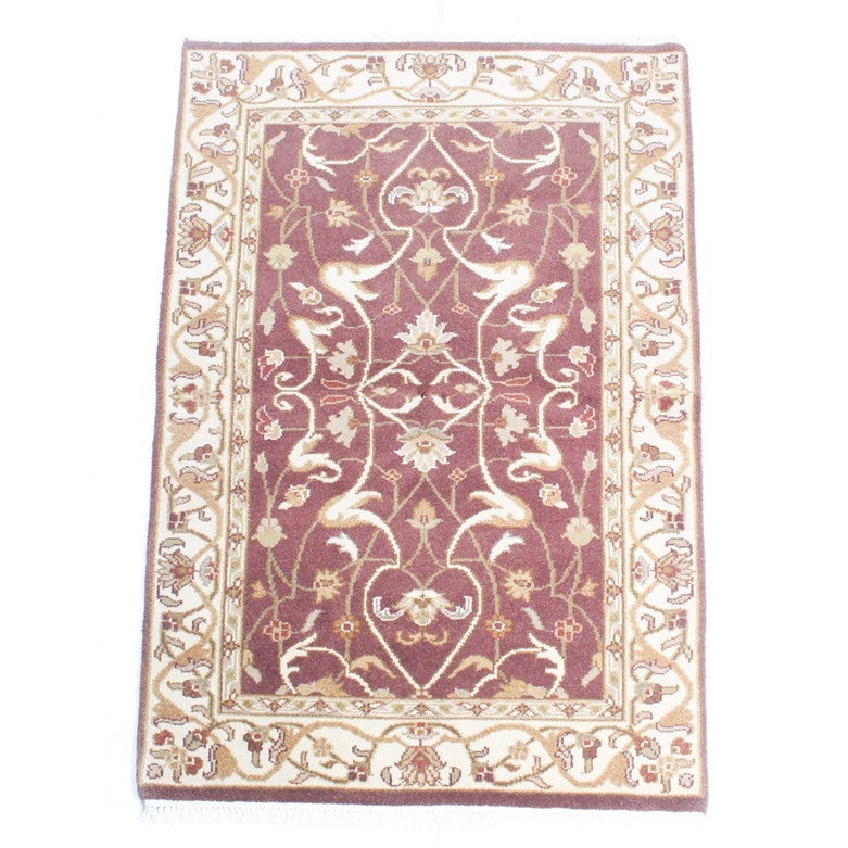 Hand Knotted Indo-Persian Tabriz Area Rug