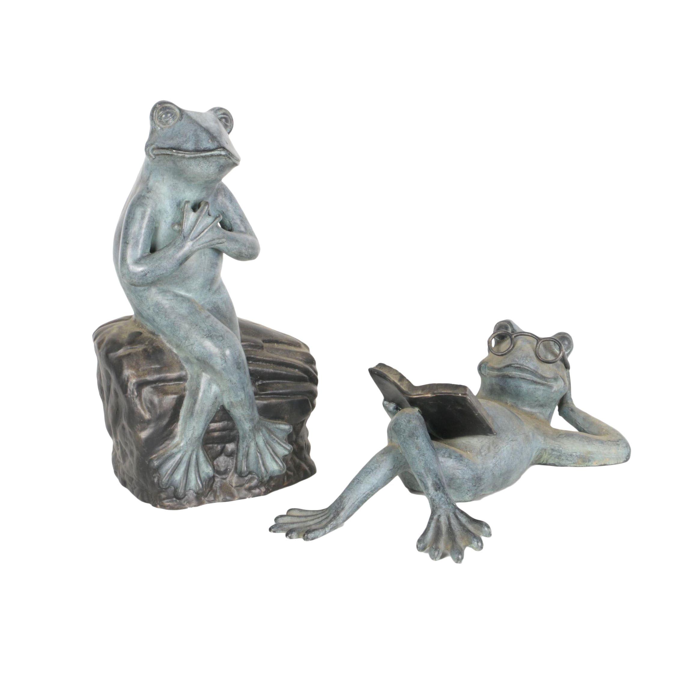 Metal Frog Garden Statues ...