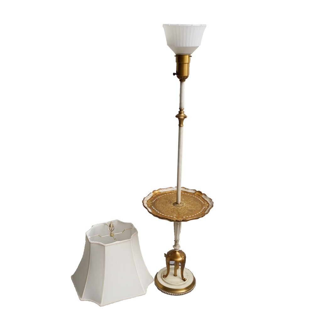 Ornate Floor Lamp With Built In Tray Table ...