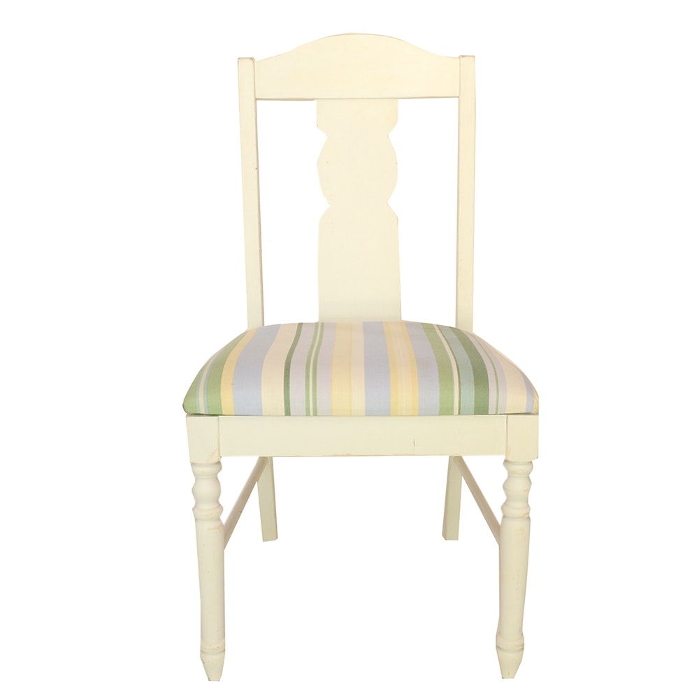 Off-White Wooden Side Chair by Thomasville