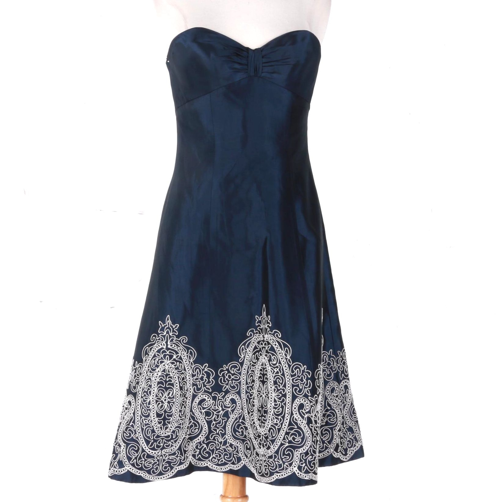 Badgley Mischka Embroidered Dress