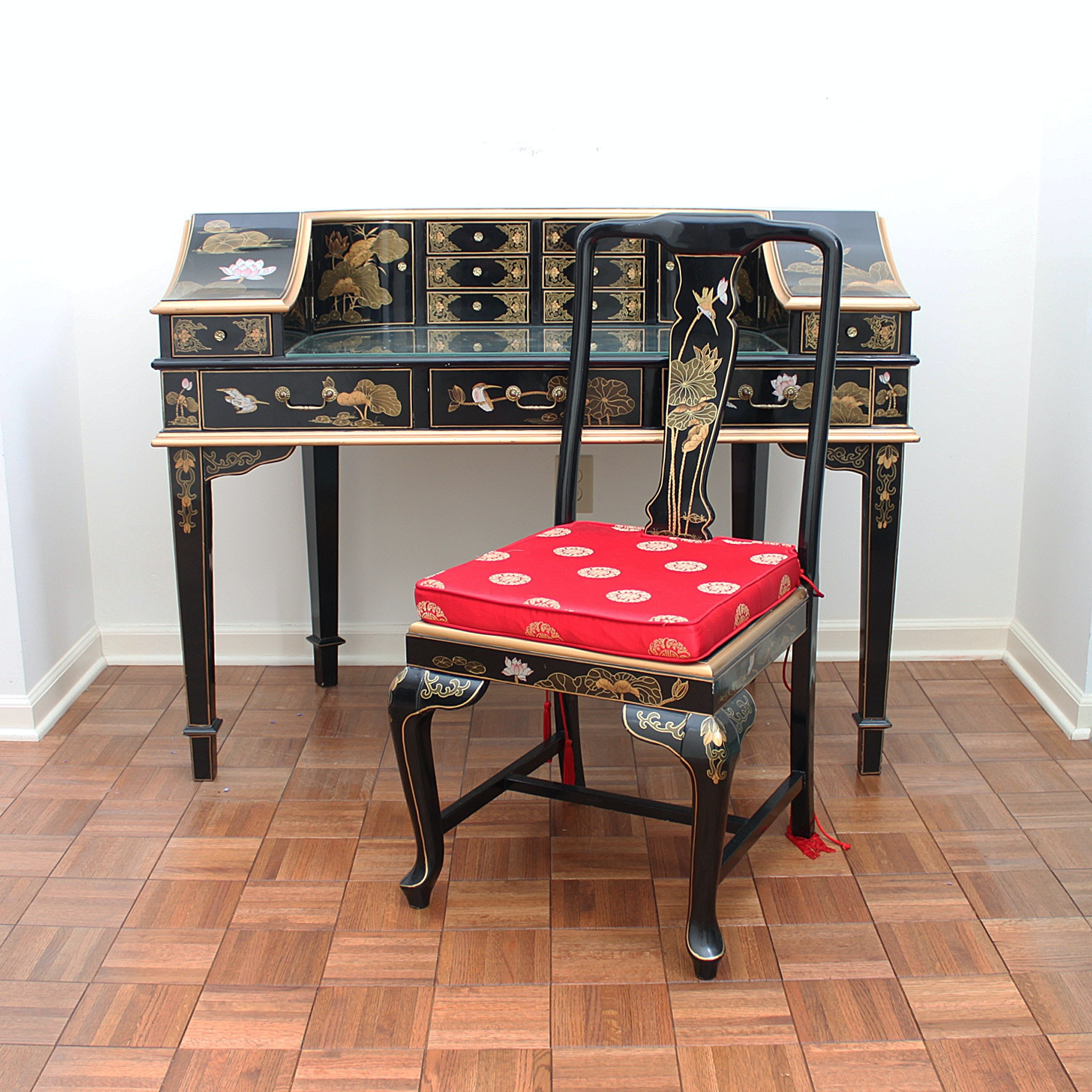 Chinoiserie Correspondence Desk and Chair