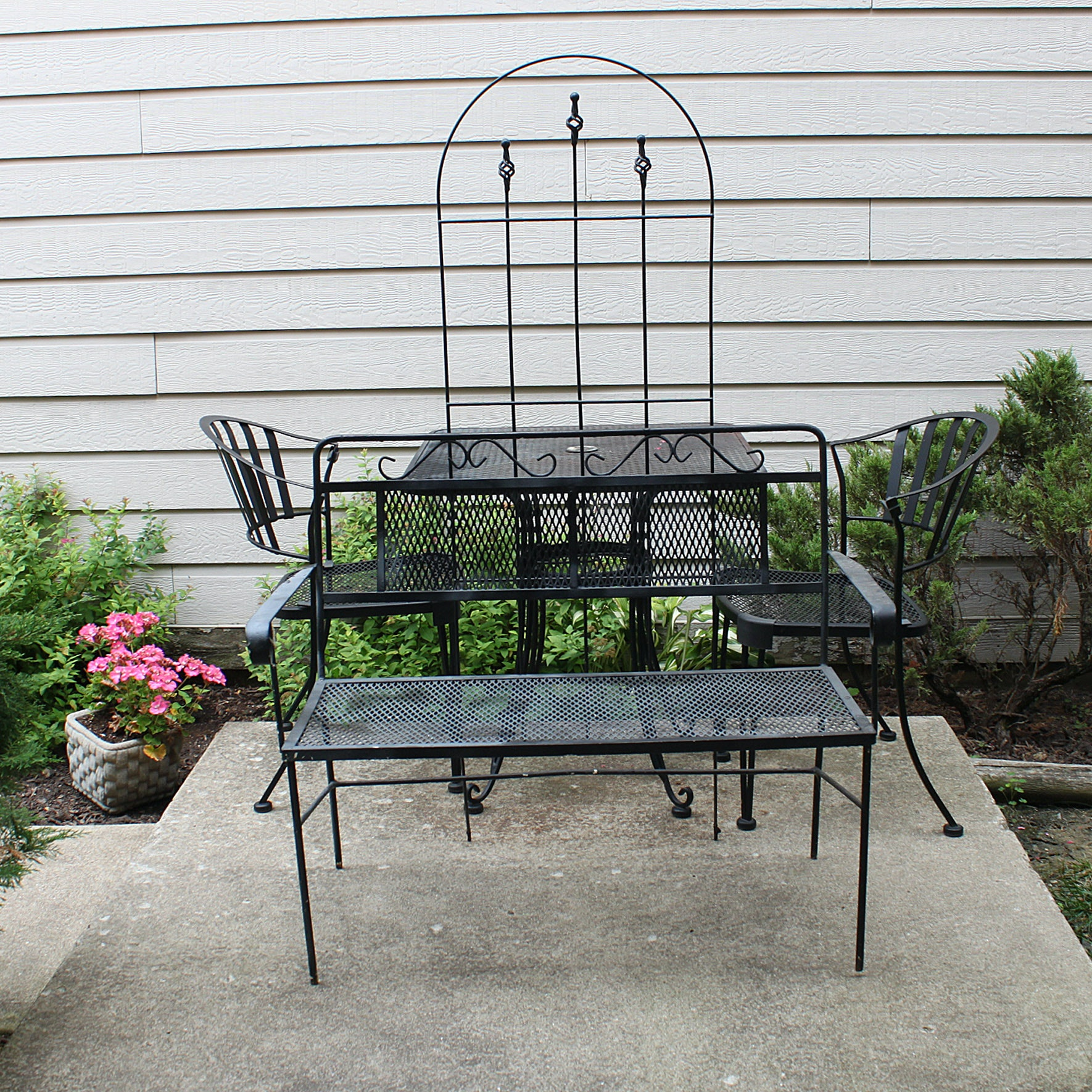 Five-Piece Wrought Iron Patio Set