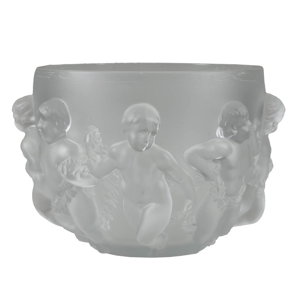 Lalique Bowl with Eight Putti