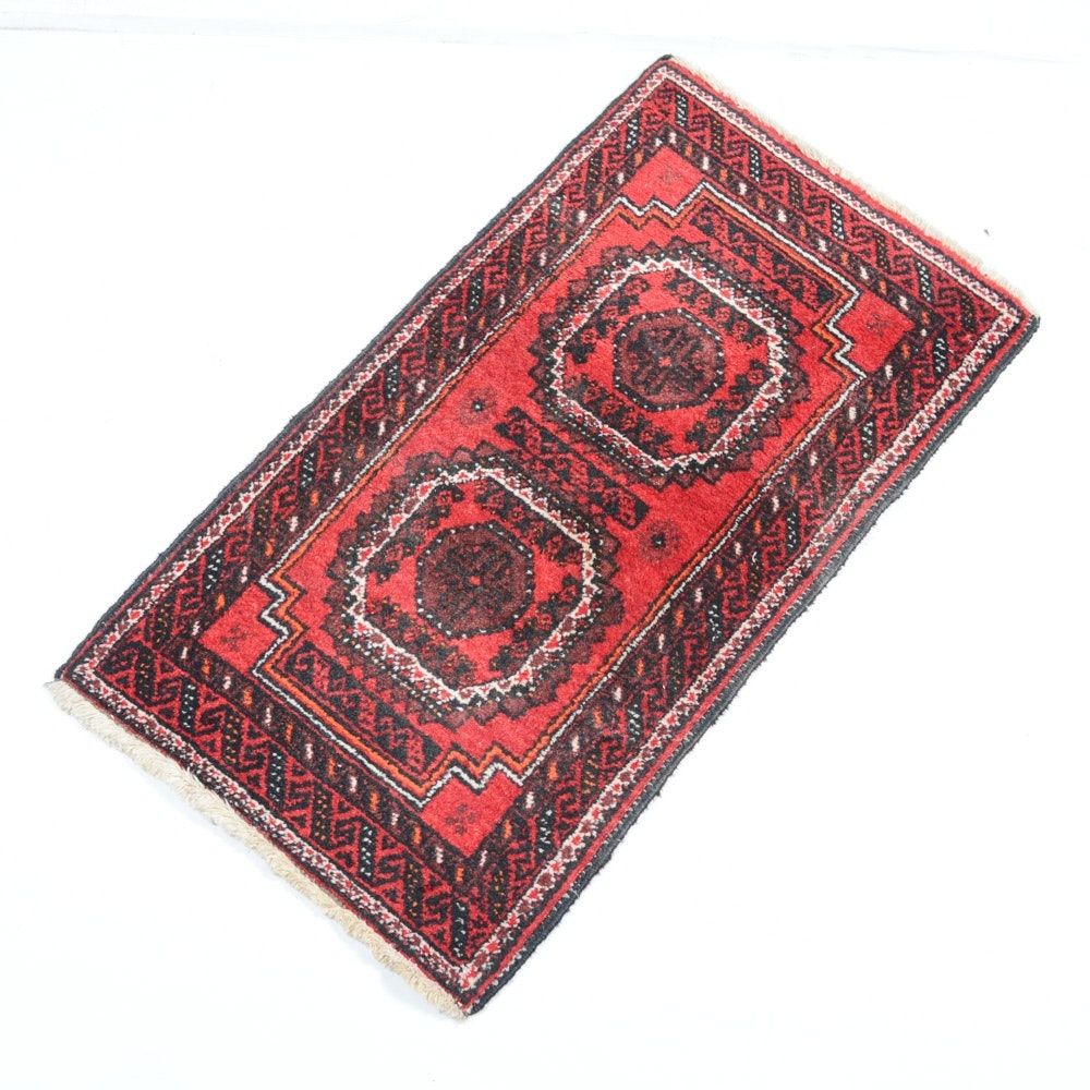 Handmade Persian Balouch Accent Rug