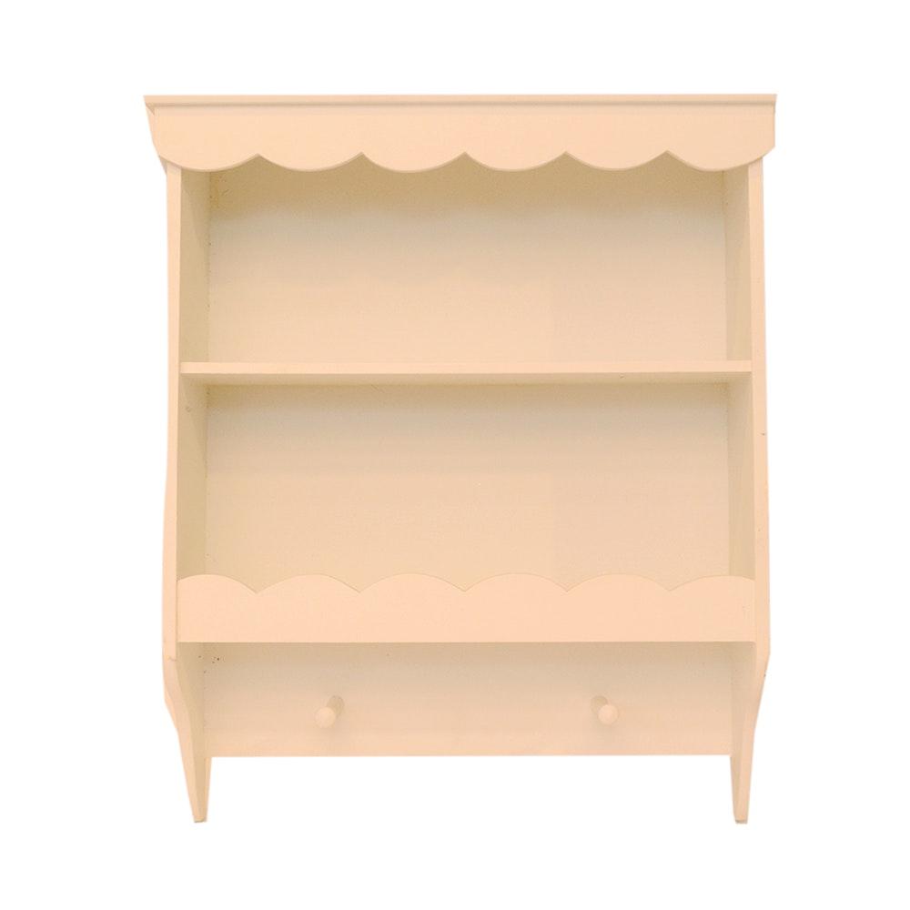 White Wooden Wall Shelf