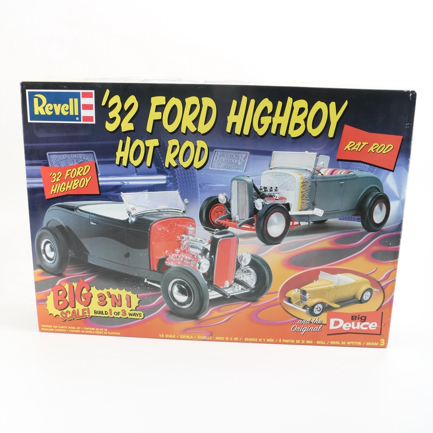 Revell 1932 Ford Highboy Hot Rod 1:8 Scale Model Kit : EBTH