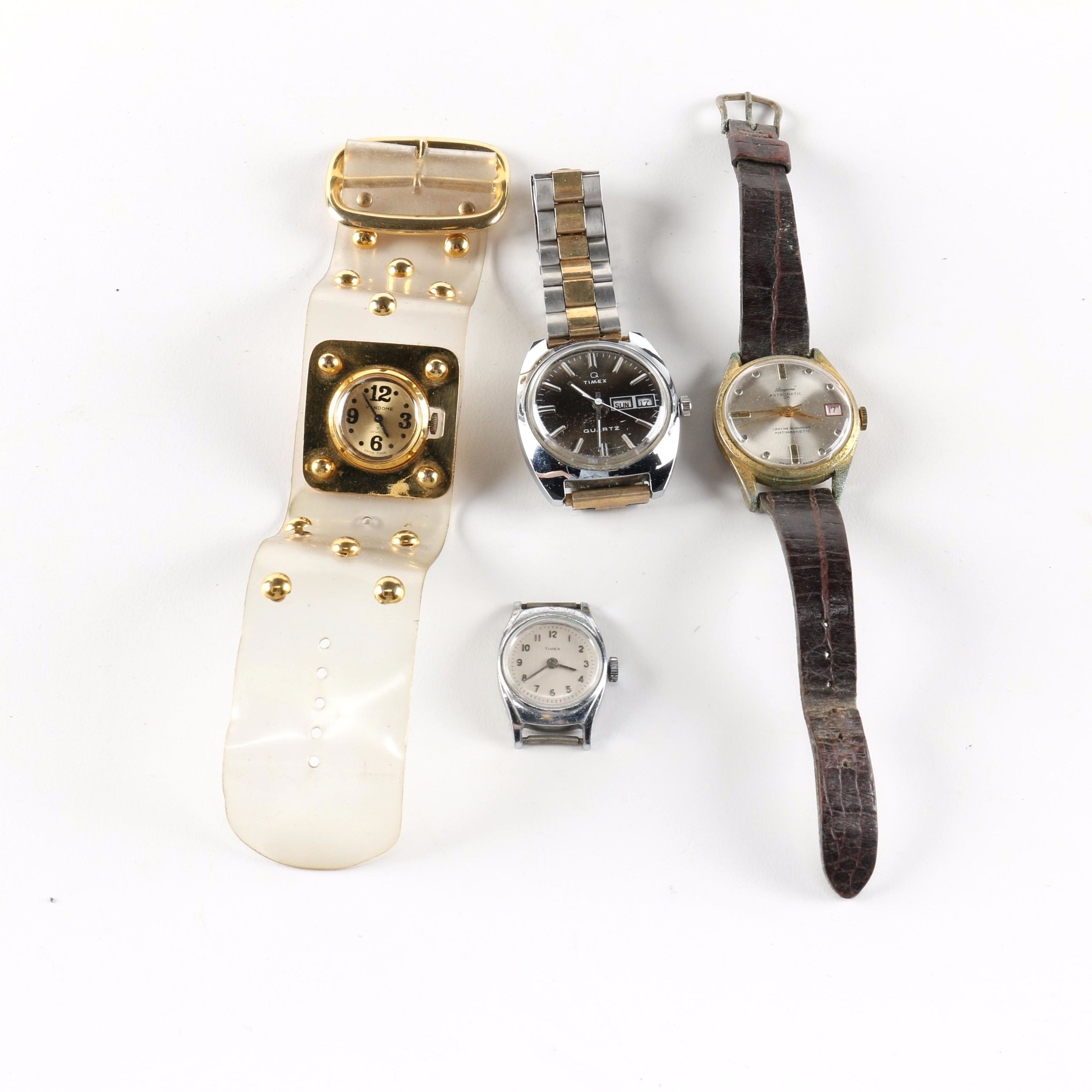 Wristwatches Including Timex and Vendome