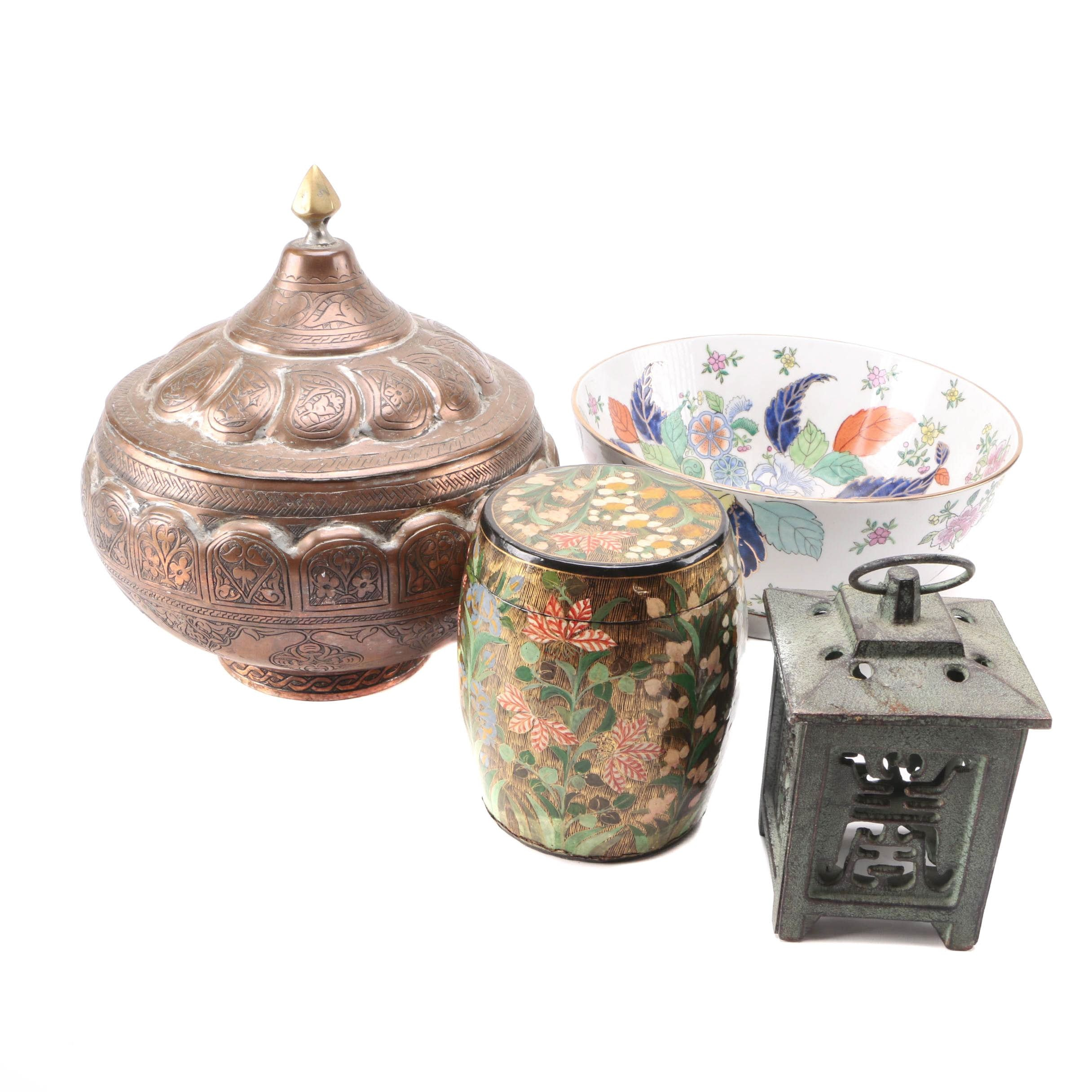 Asian Inspired Ceramic and Metal Décor