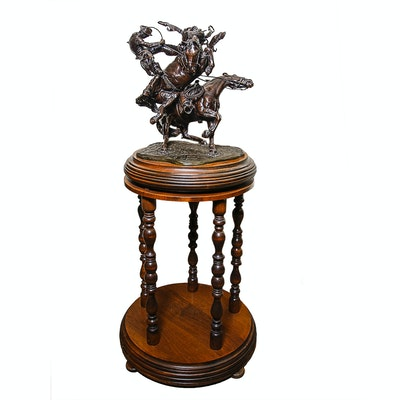 "Sid Burns 1977 Bronze Sculpture ""Eight Plus Two"""