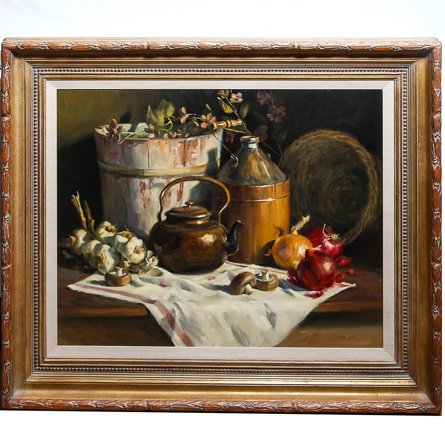 """Tom Browning Oil on Canvas """"Collected Relics"""""""