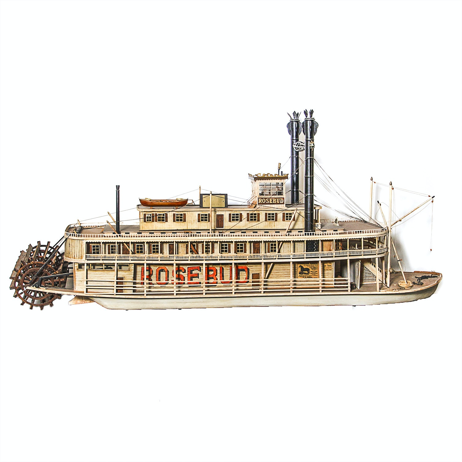 """Rosebud"" Model Riverboat by Edward C. Sims"