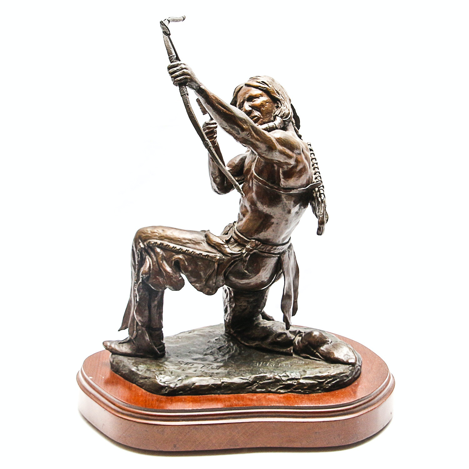 "Sid Burns 1972 Bronze Sculpture ""Last Arrow"""