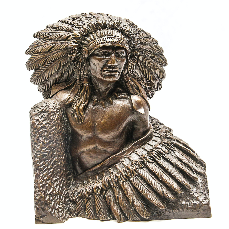 """1977 Sid Burns Bronze Sculpture """"Pride of Race"""""""