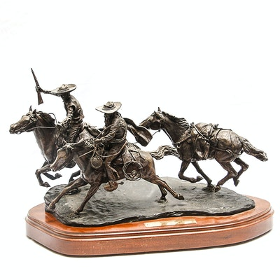 "Sid Burns 1975 Bronze Sculpture ""Banditos"""