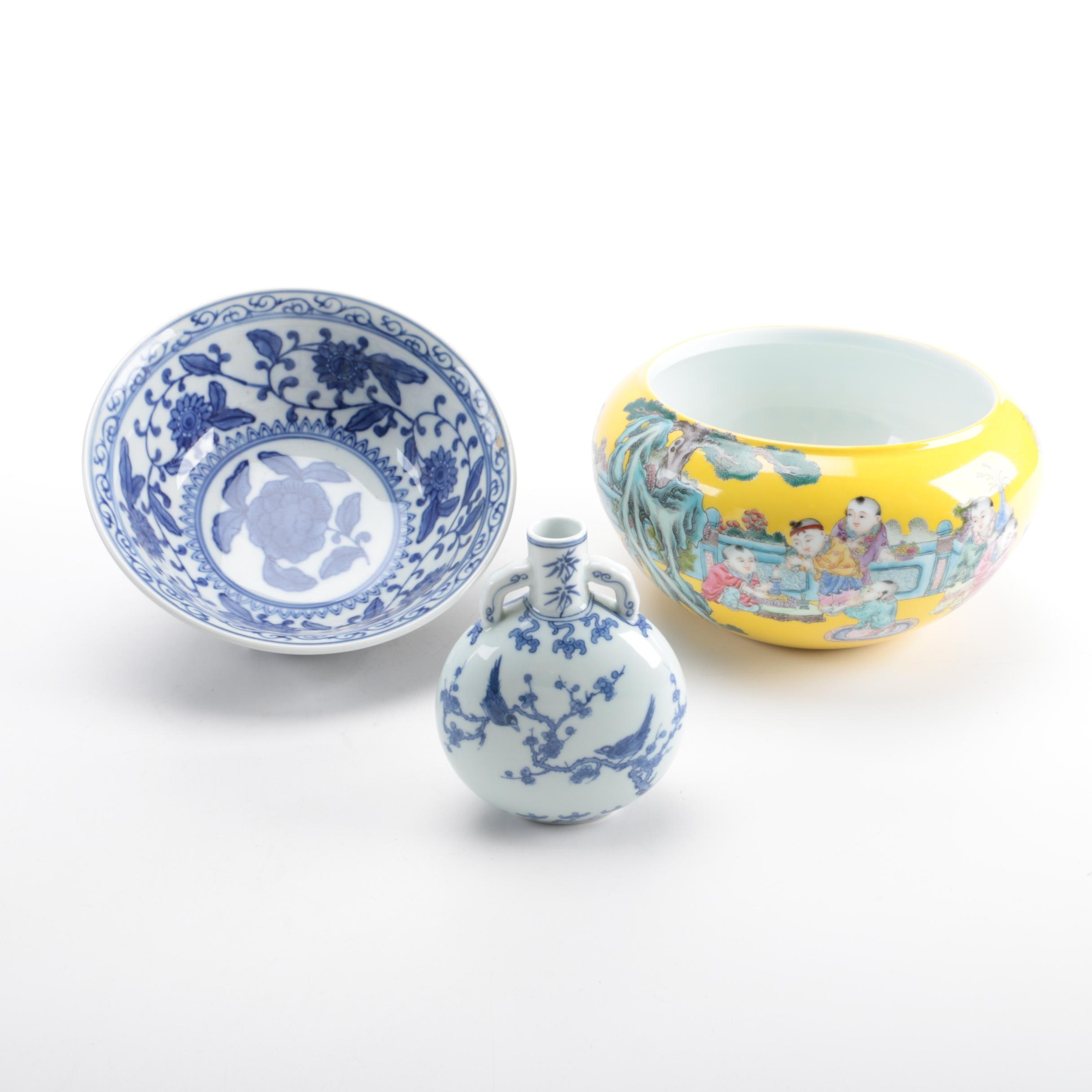 Chinese Ceramic Bowls and Vessels
