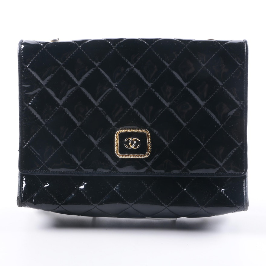 Vintage Chanel Patent Leather Handbag