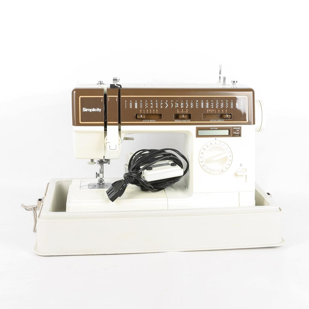 Vintage Simplicity SL 8220 Sewing Machine