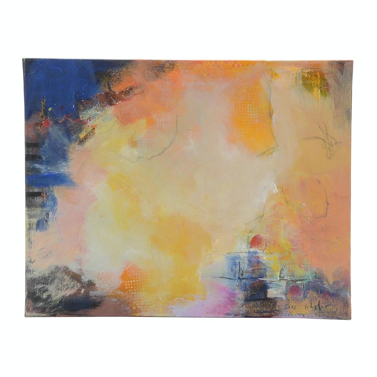 "Lisa Schafer Original Abstract Acrylic on Canvas ""Elle Said"""