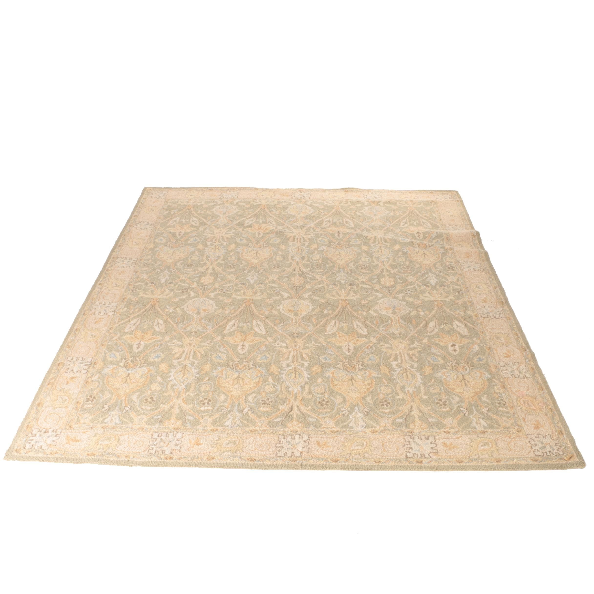 "Hand-Tufted Pottery Barn ""Camilla"" Wool Area Rug"