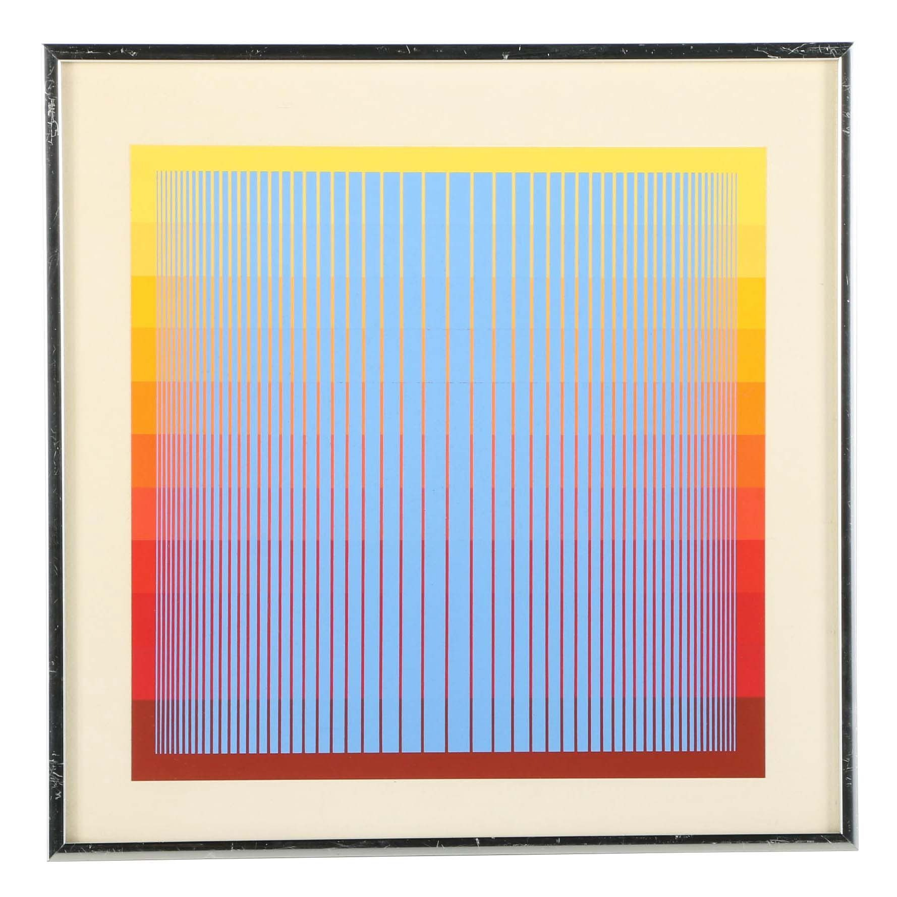 Richard Anuszkiewicz Limited Edition Op Art Serigraph