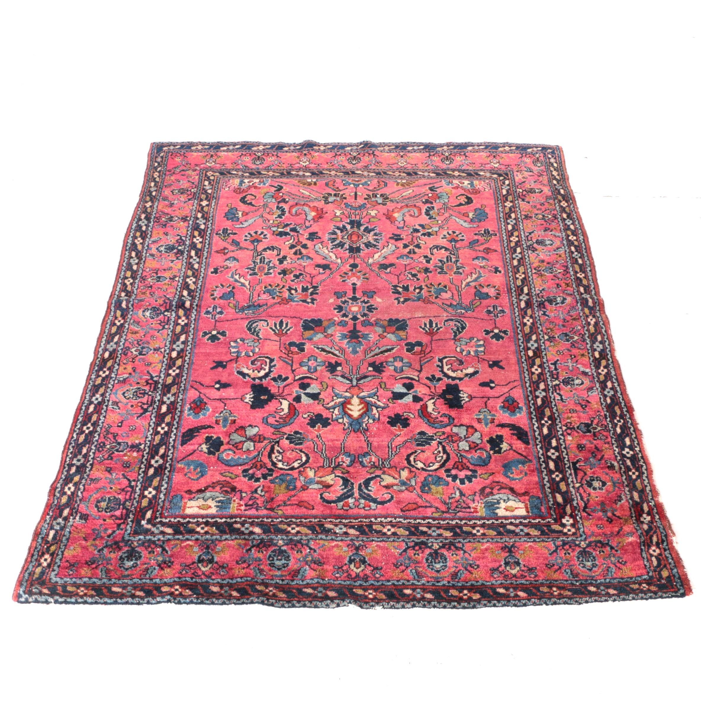 Semi-Antique Hand-Knotted Persian Arak Area Rug