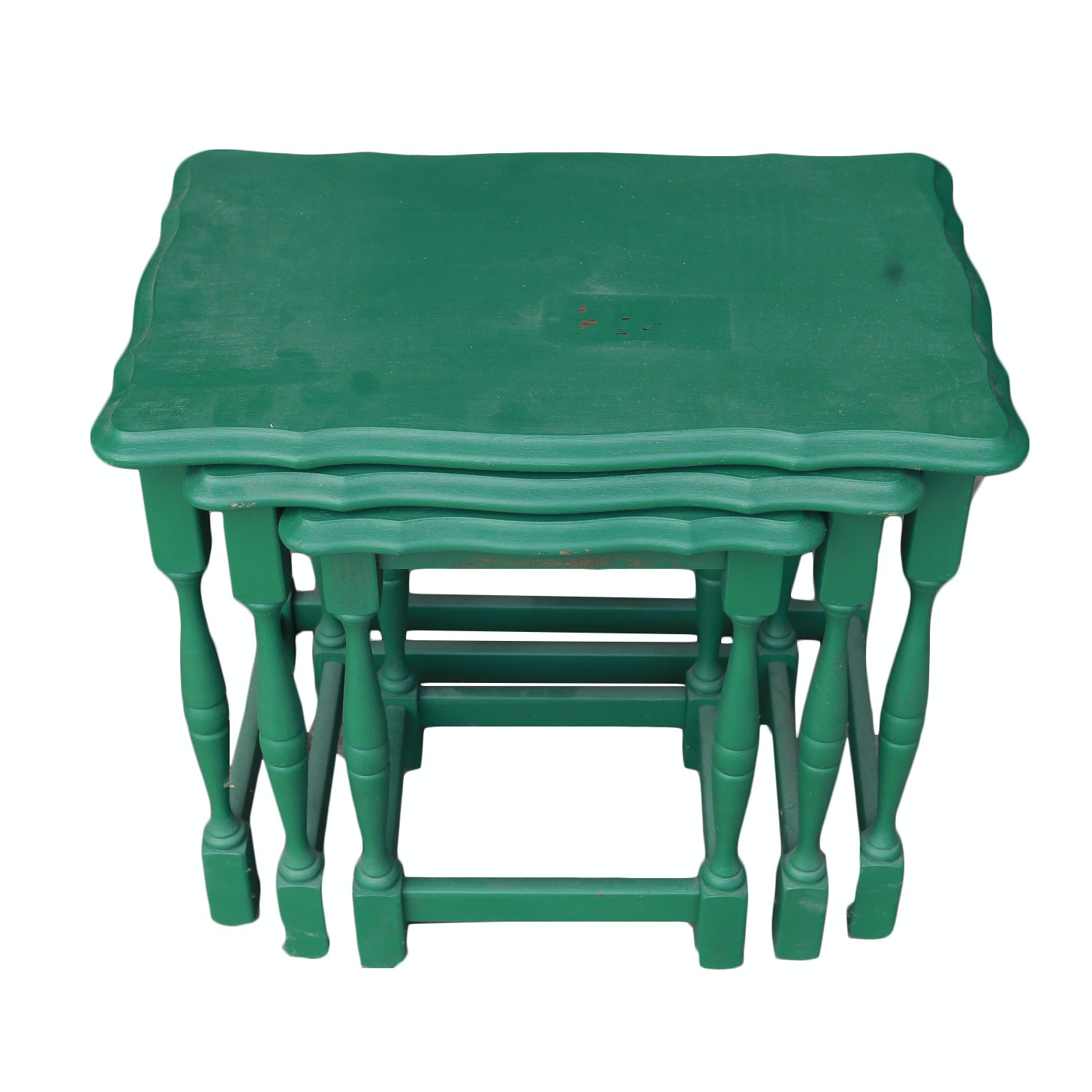Teal-Painted Nesting Tables