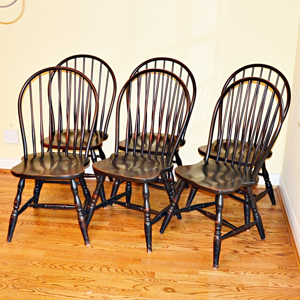 Merveilleux Windsor Style Bow Back Side Chairs By David T. Smith ...