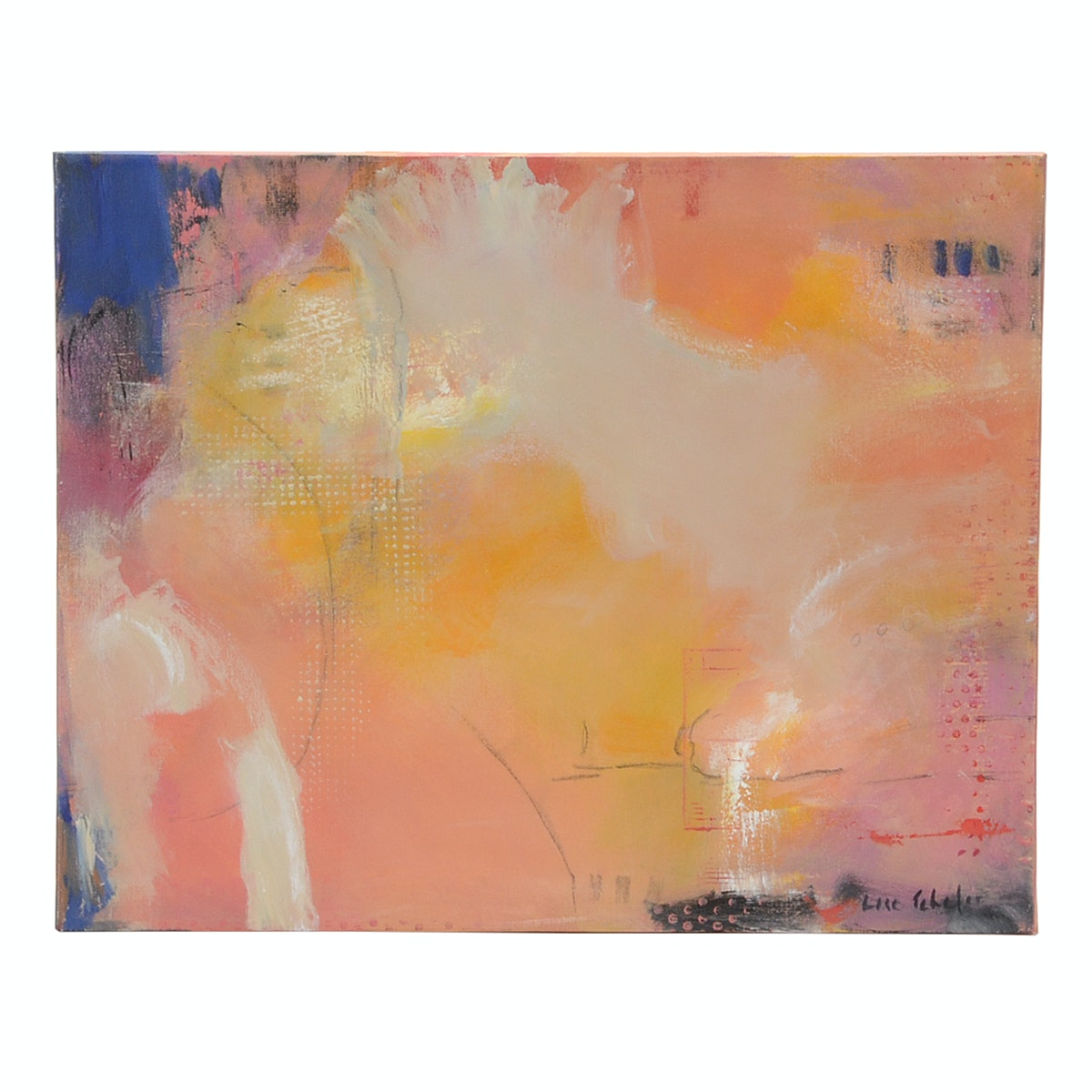 """Lisa Schafer Original Abstract Acrylic on Canvas """"Funny Day"""""""