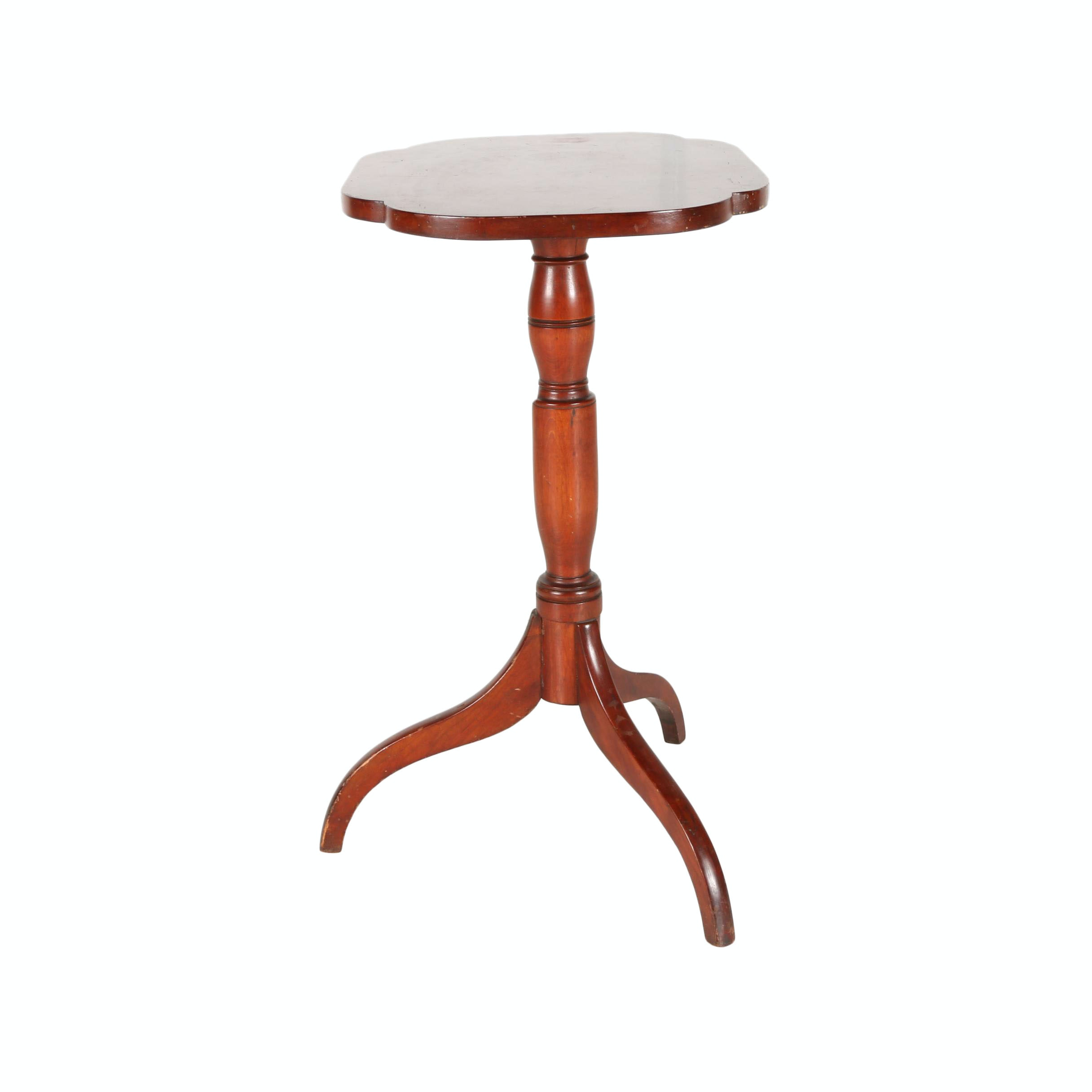 Early 19th Century Federal Cherry Candlestand