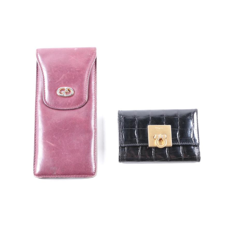 ace92c9f7ea1c0 Gucci Glasses Case and Ferragamo Key Holder : EBTH