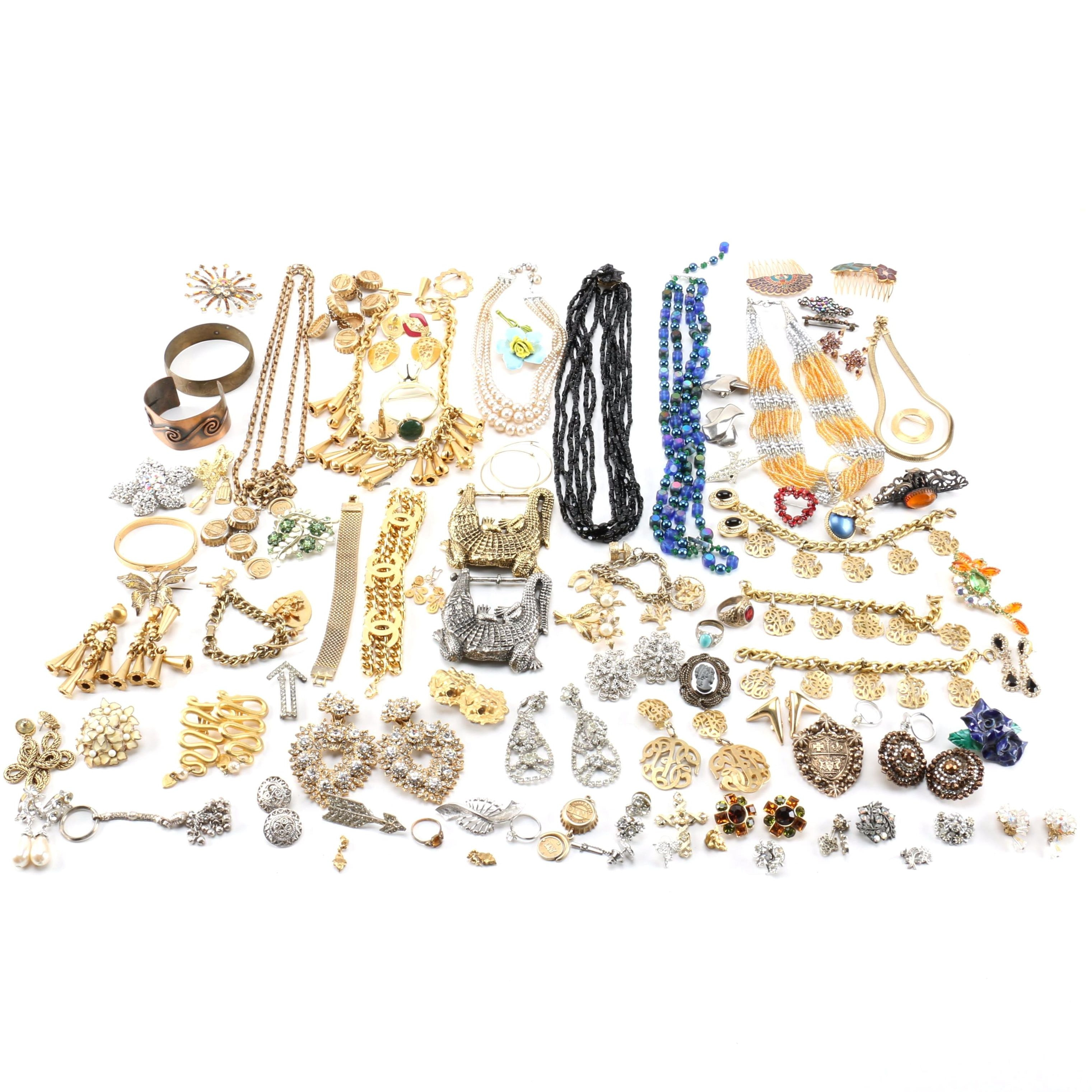 Generous Selection of Jewelry Including Vintage Pieces and Kramer