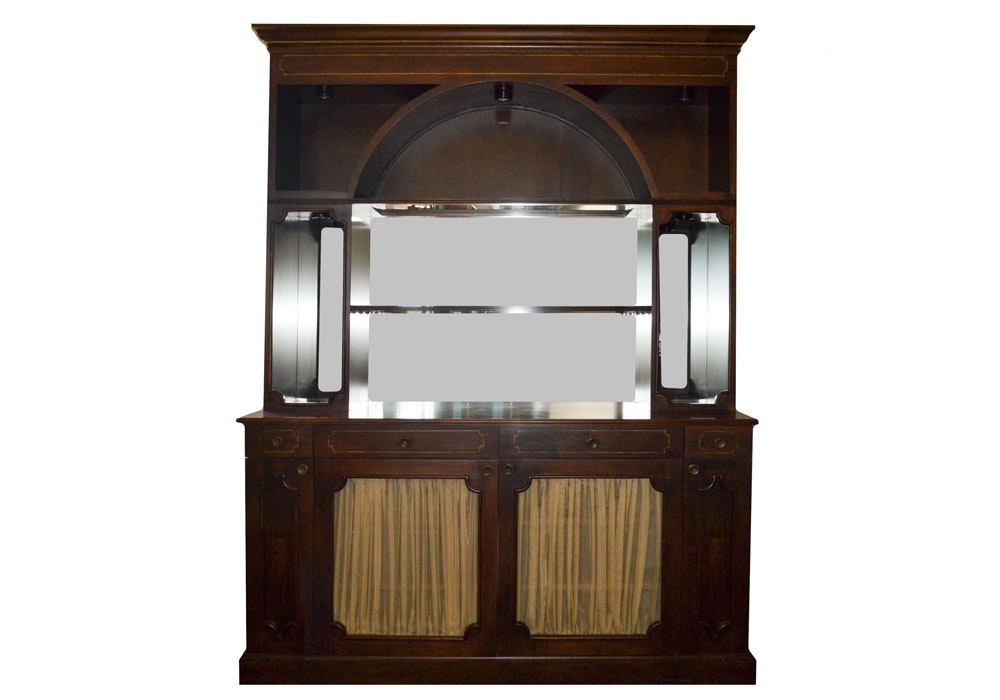 Lighted Display Hutch and Cabinet