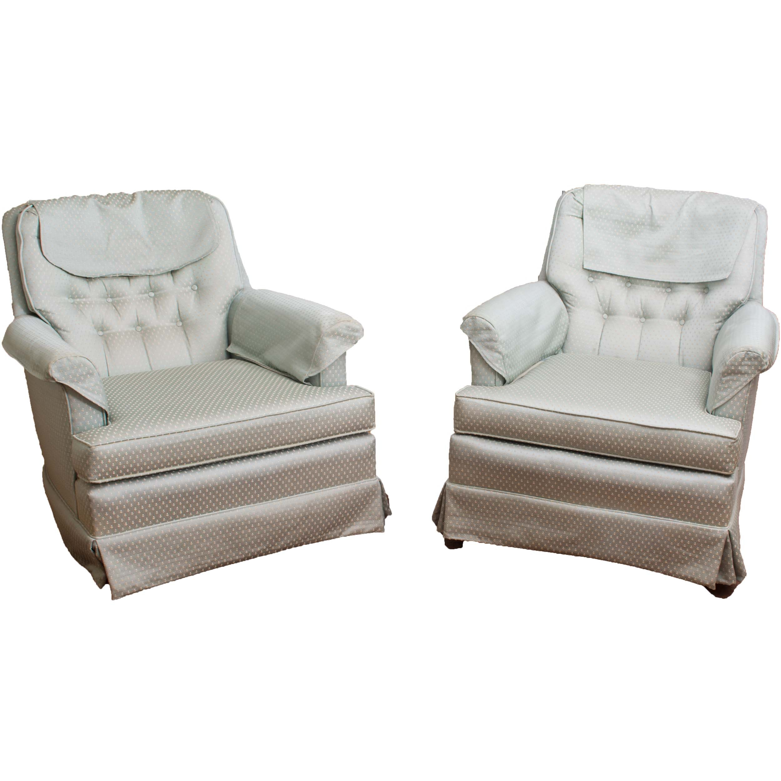 Tufted Upholstered Armchairs