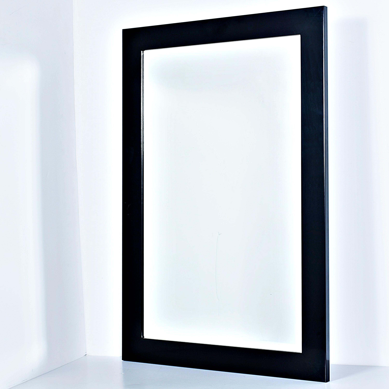 Black Rectangular Wall Mirror