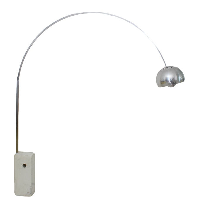 Flos Arco Mid-Century Floor Lamp with Marble Base