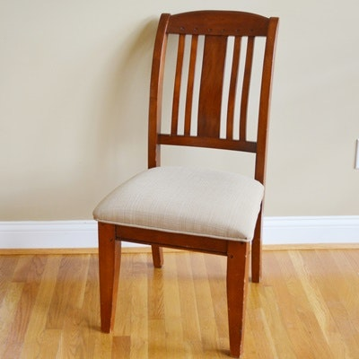 Upholstered Seat Wood Side Chair
