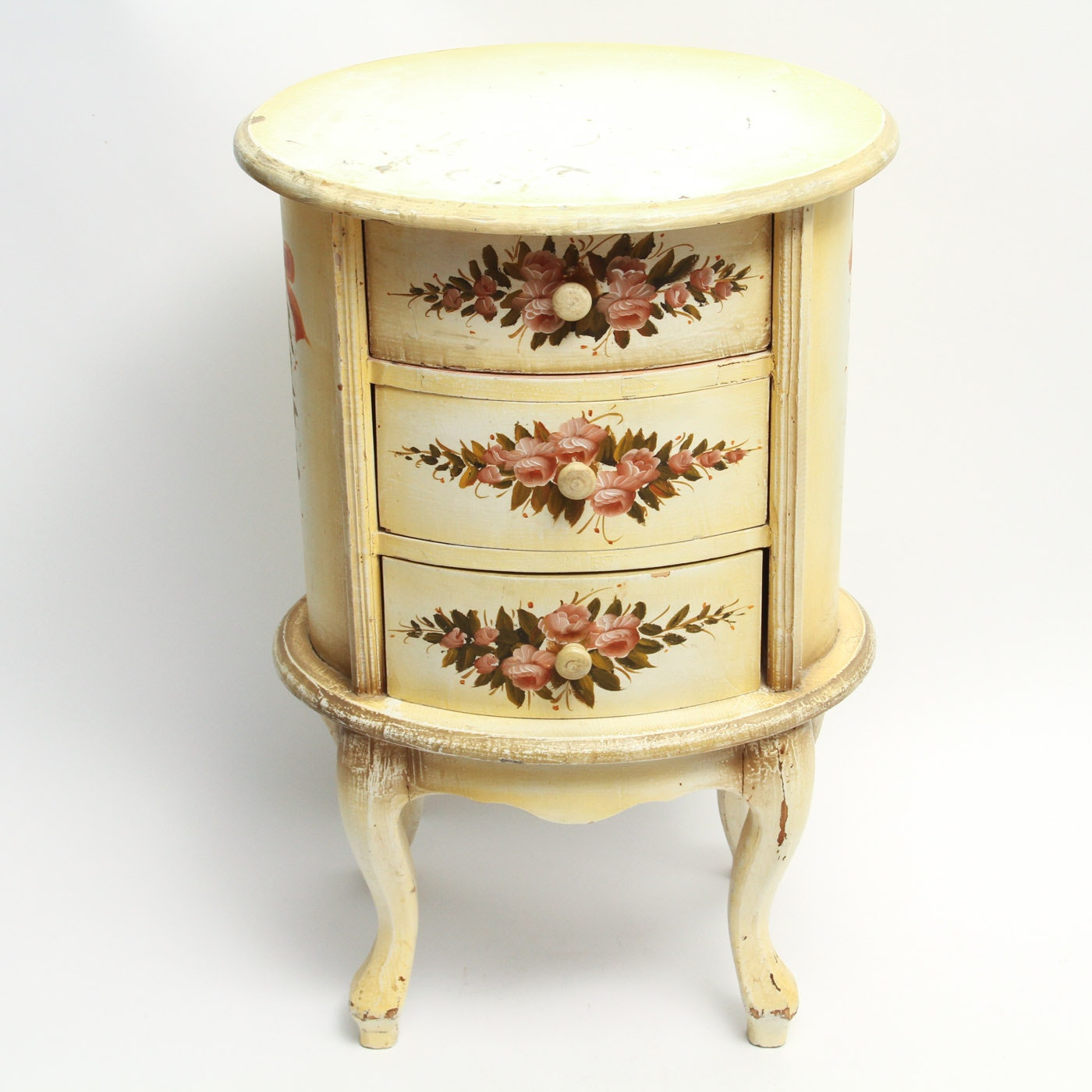 Contemporary French Provincial Style Three-Drawer Nightstand