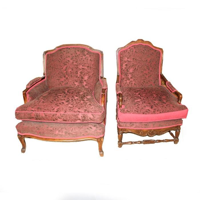 Ballard Designs Upholstered Parlor Chair Set