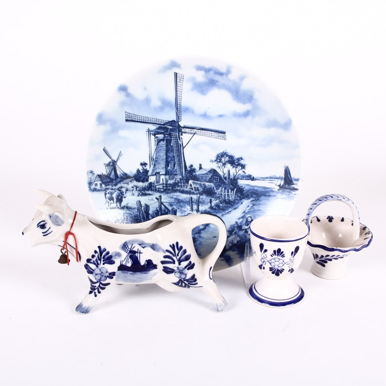 Collection of Hand Painted Delftware
