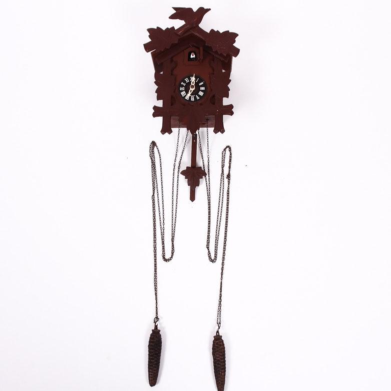 Vintage German Black Forest Style Cuckoo Clock