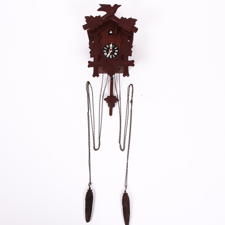 Vintage German Black Forest Style Cuckoo Clock